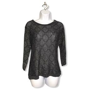 American Retro | Geo Wool Blend Metallic Sweater